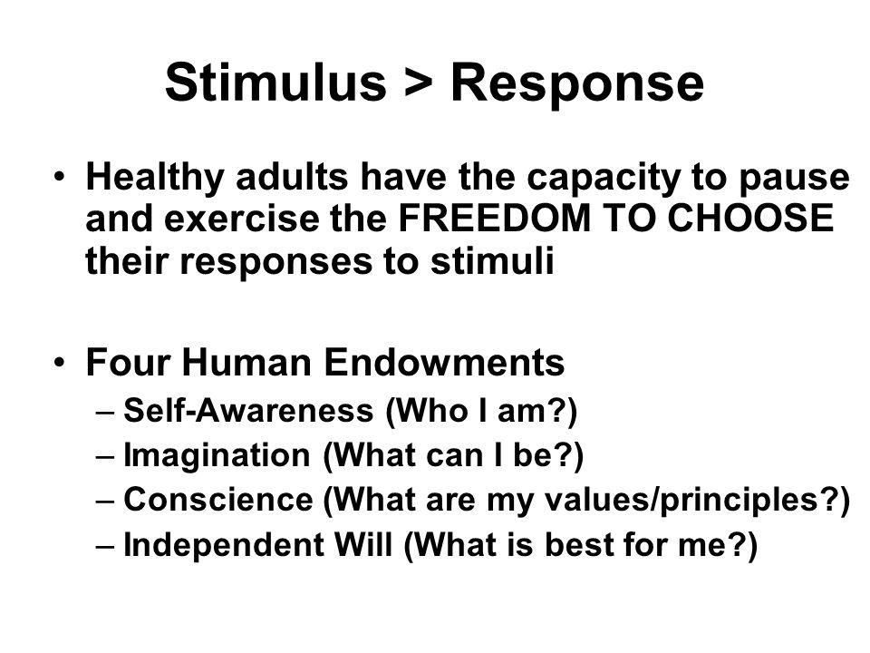 Stimulus > Response