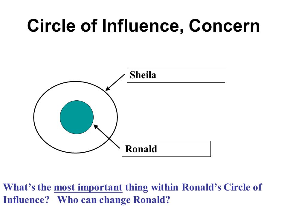 Circle of Influence, Concern