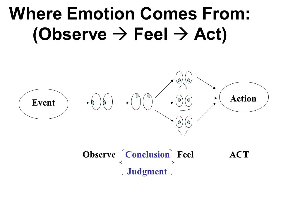 Where Emotion Comes From: (Observe  Feel  Act)