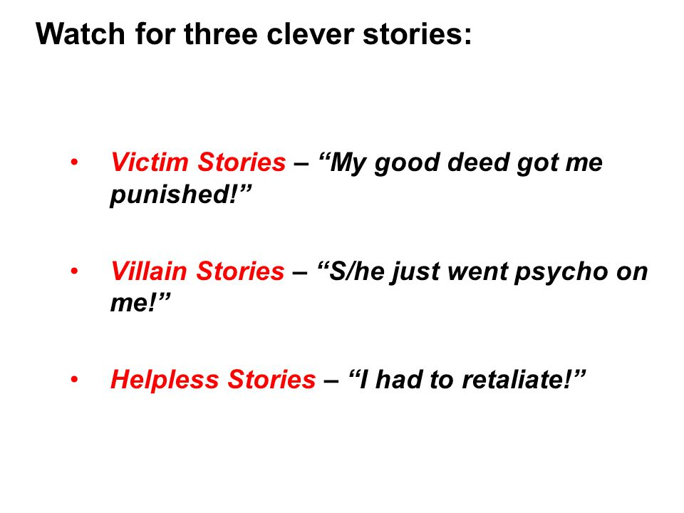 Watch for three clever stories:
