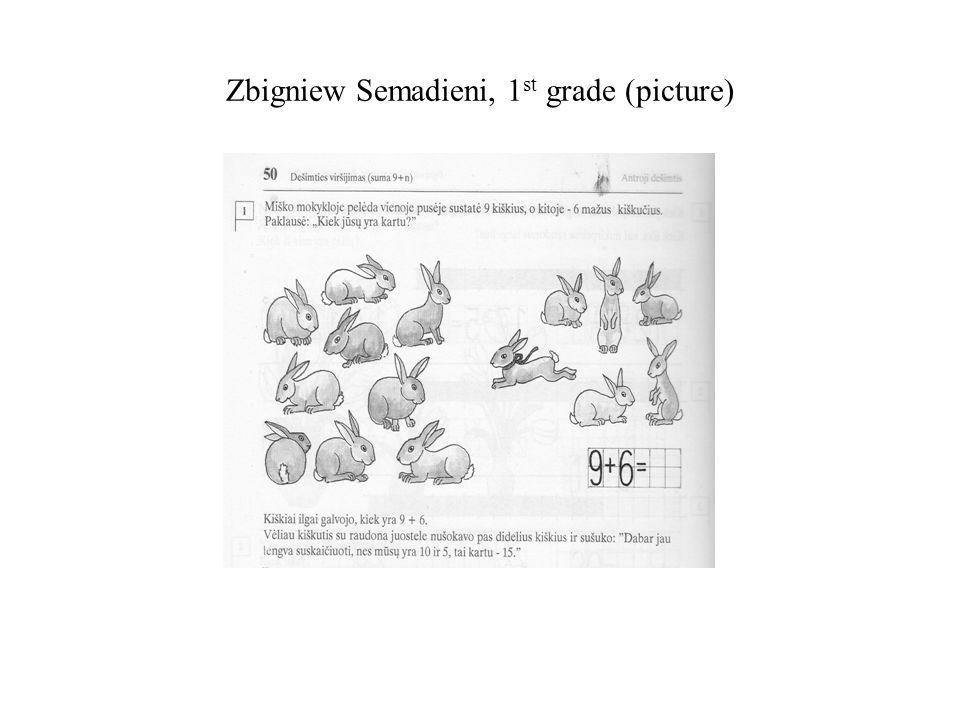 Zbigniew Semadieni, 1st grade (picture)