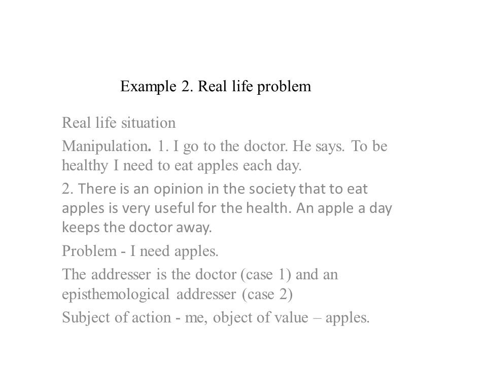 Example 2. Real life problem