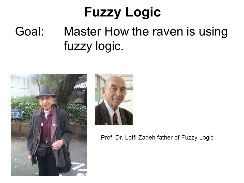 Fuzzy Logic Goal: Master How the raven is using fuzzy logic.