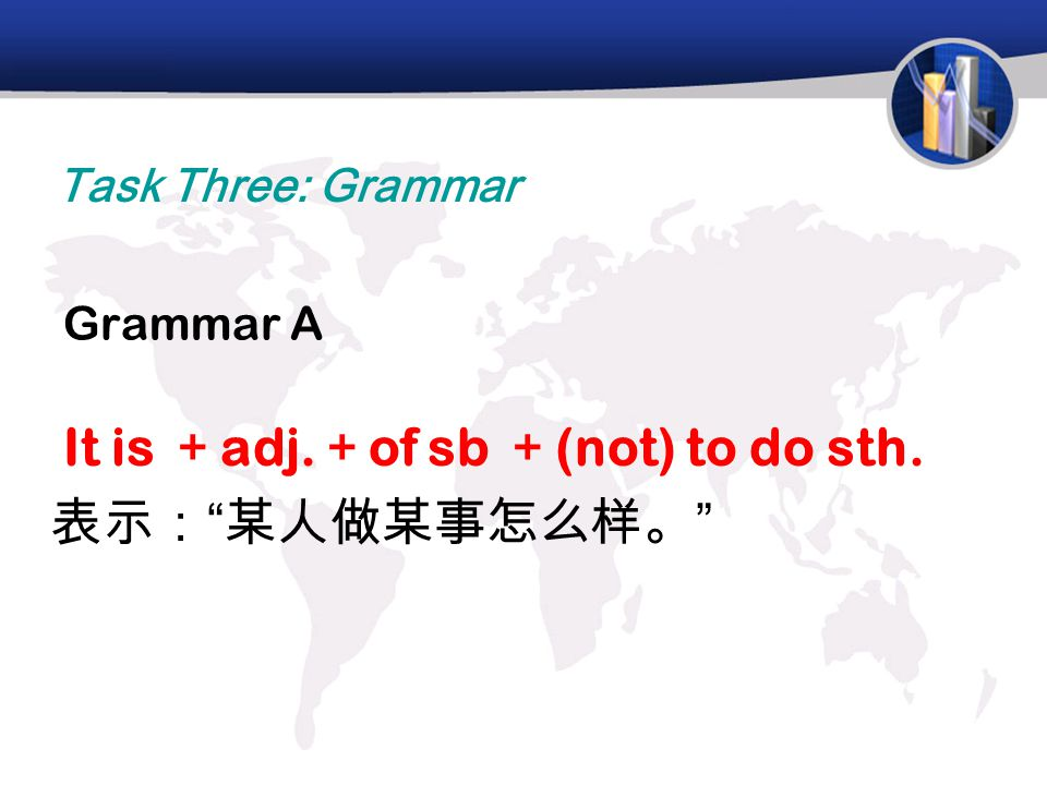 It is +adj.+of sb +(not) to do sth. 表示: 某人做某事怎么样。