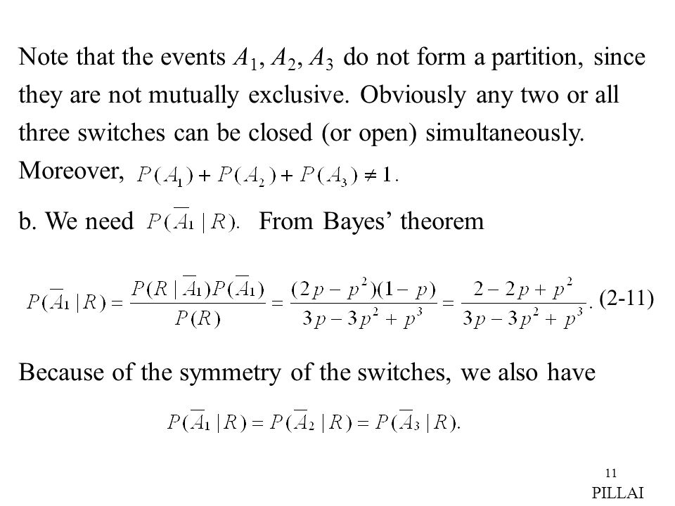 b. We need From Bayes' theorem