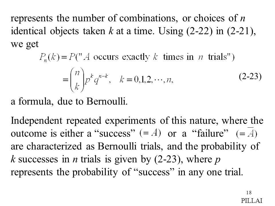 a formula, due to Bernoulli.