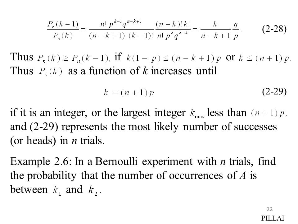Thus if or Thus as a function of k increases until