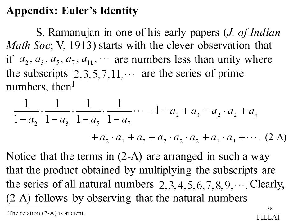 Appendix: Euler's Identity