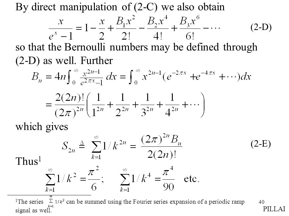 By direct manipulation of (2-C) we also obtain