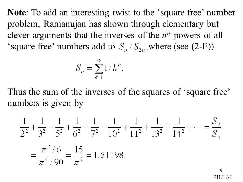Note: To add an interesting twist to the 'square free' number