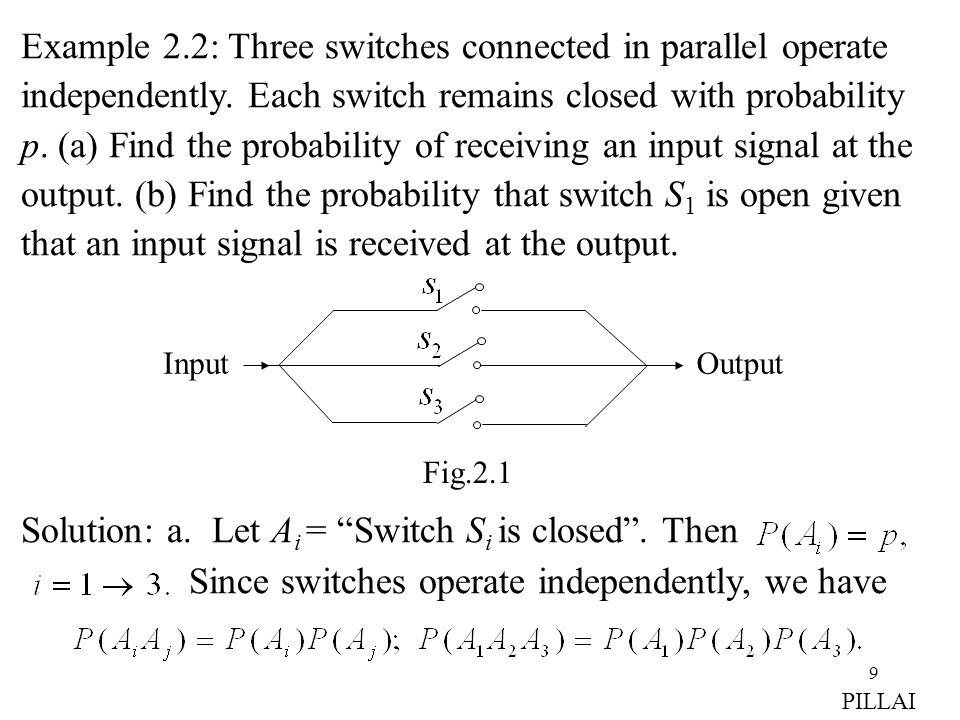 Solution: a. Let Ai = Switch Si is closed . Then