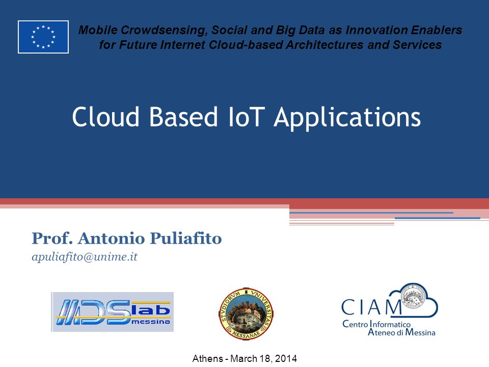 Cloud Based IoT Applications