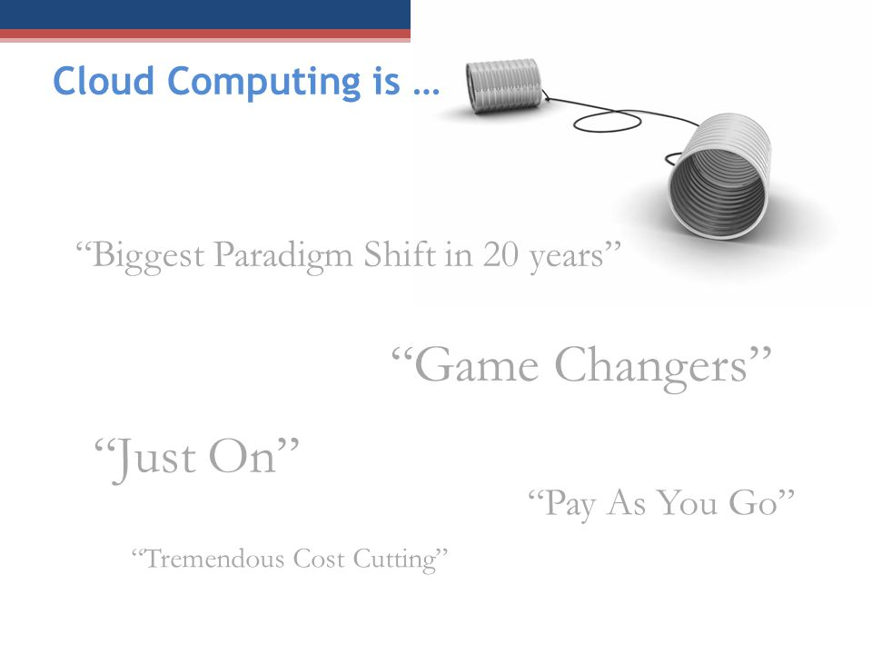 Game Changers Just On Cloud Computing is …