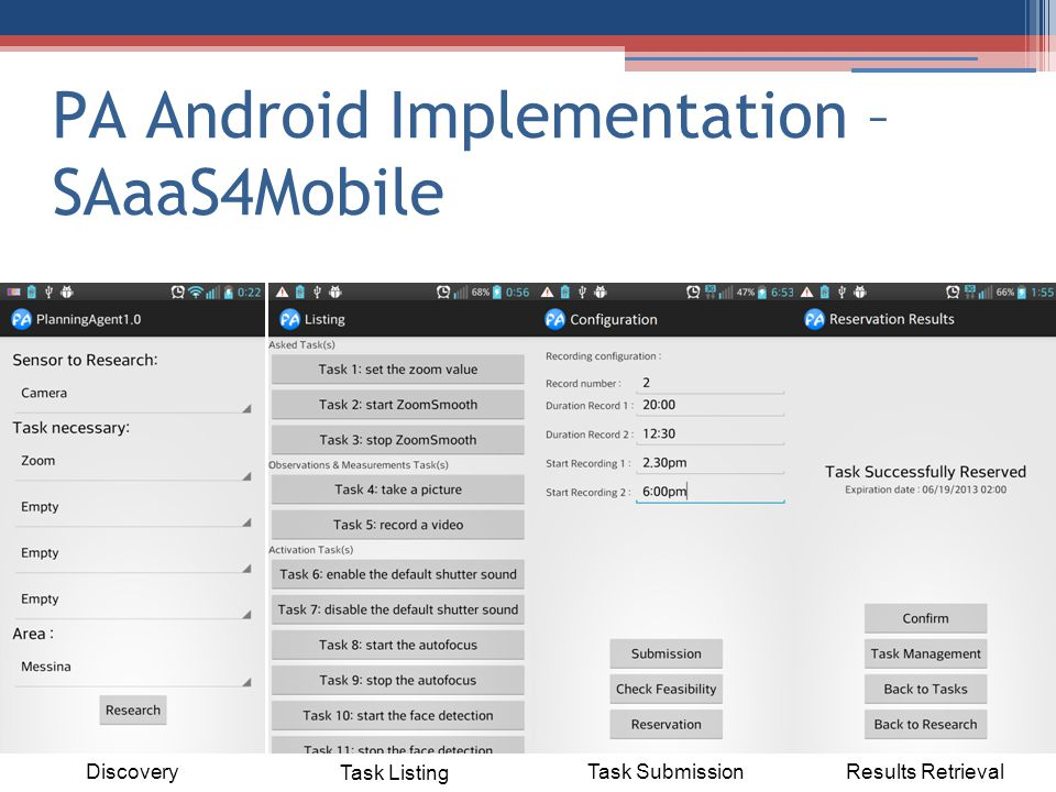 PA Android Implementation – SAaaS4Mobile