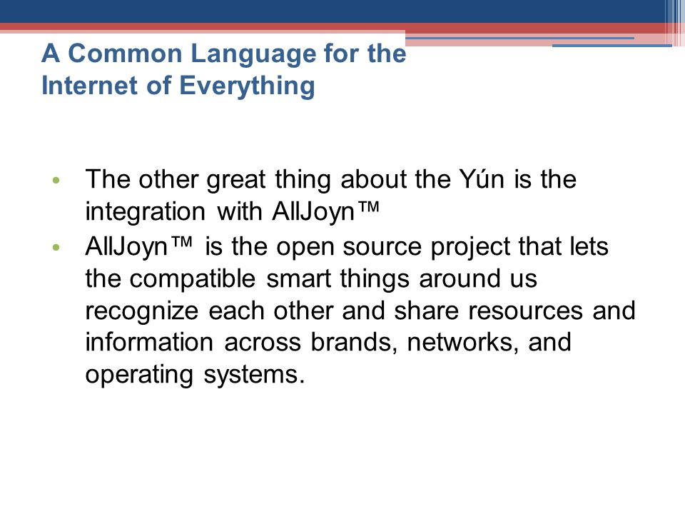 A Common Language for the Internet of Everything