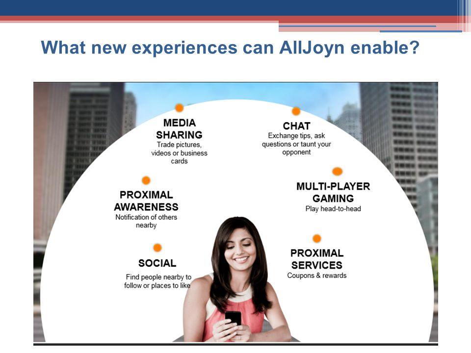 What new experiences can AllJoyn enable