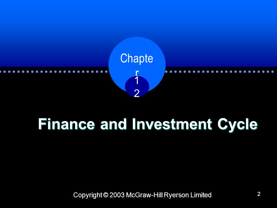 Finance and Investment Cycle