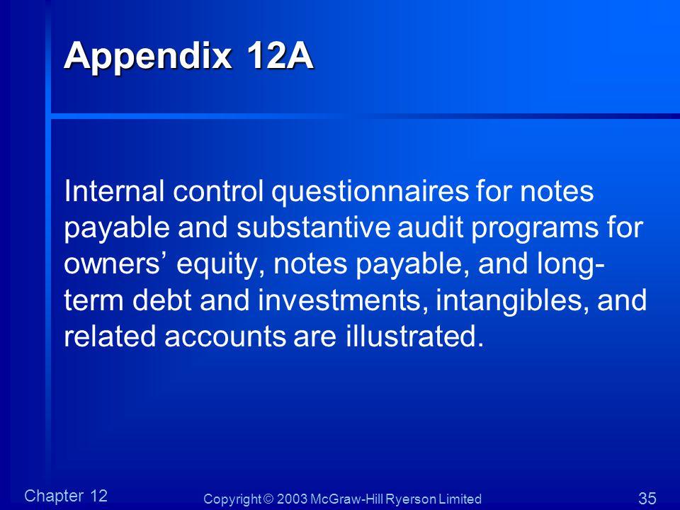 Appendix 12A