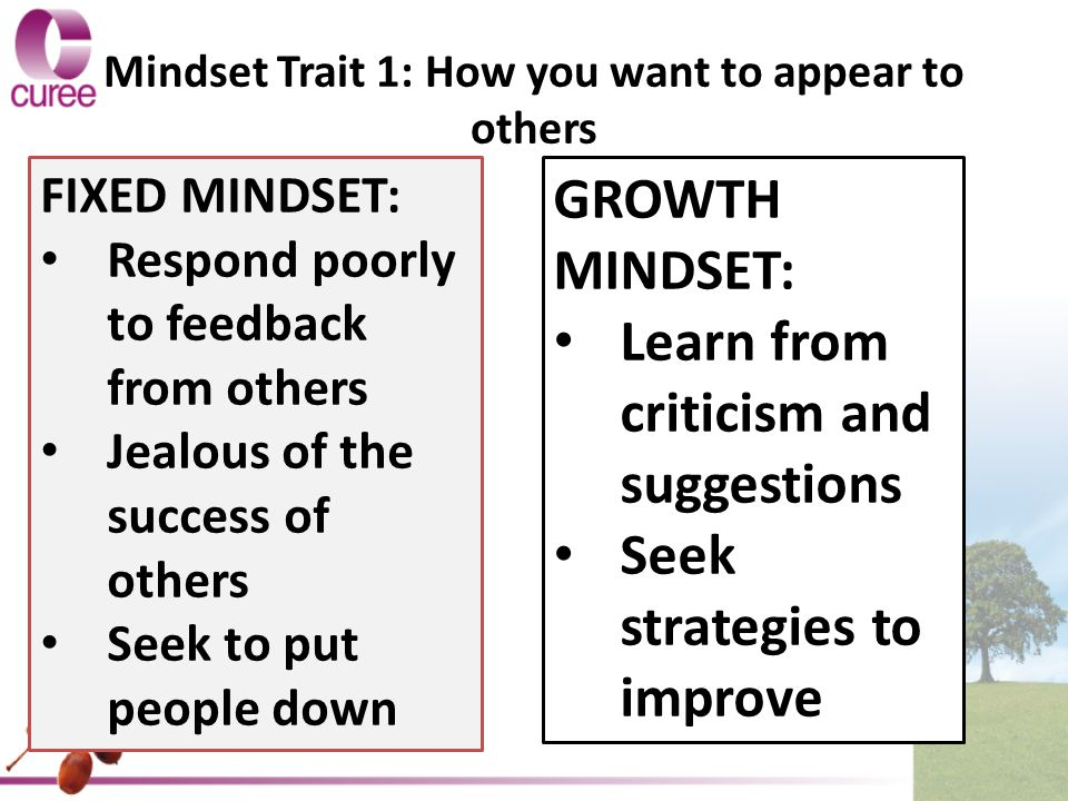 Mindset Trait 1: How you want to appear to others