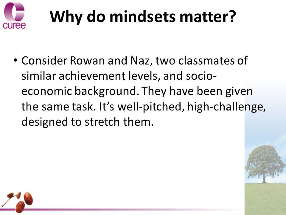 Why do mindsets matter