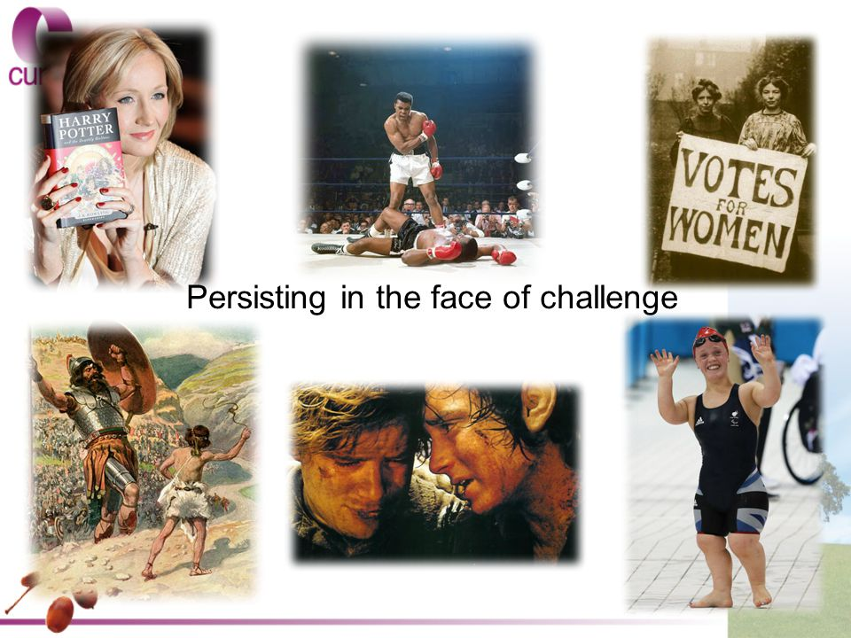 Persisting in the face of challenge