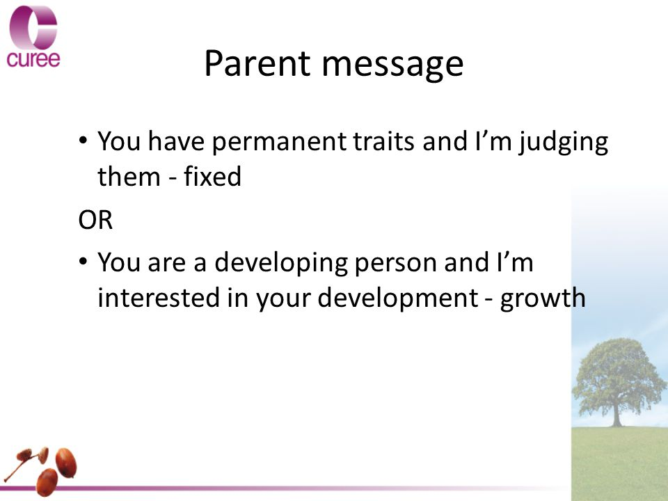 Parent message You have permanent traits and I'm judging them - fixed