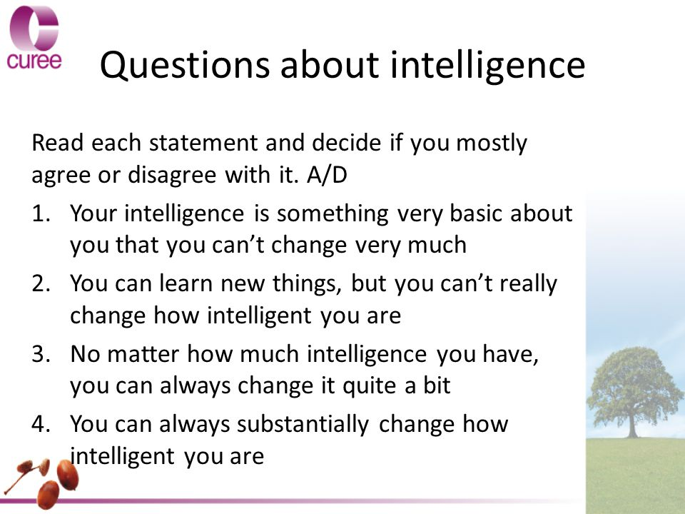 Questions about intelligence
