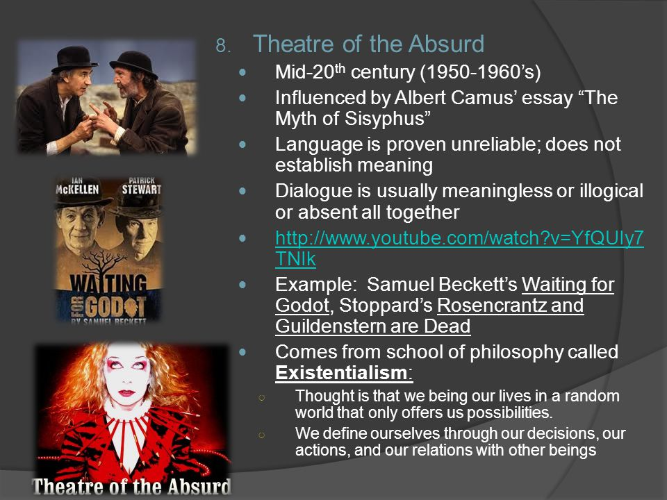 Theatre of the Absurd Mid-20th century (1950-1960's)