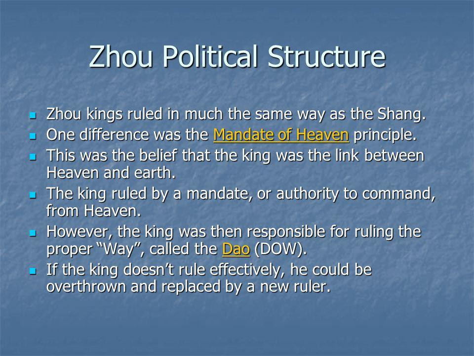 Zhou Political Structure