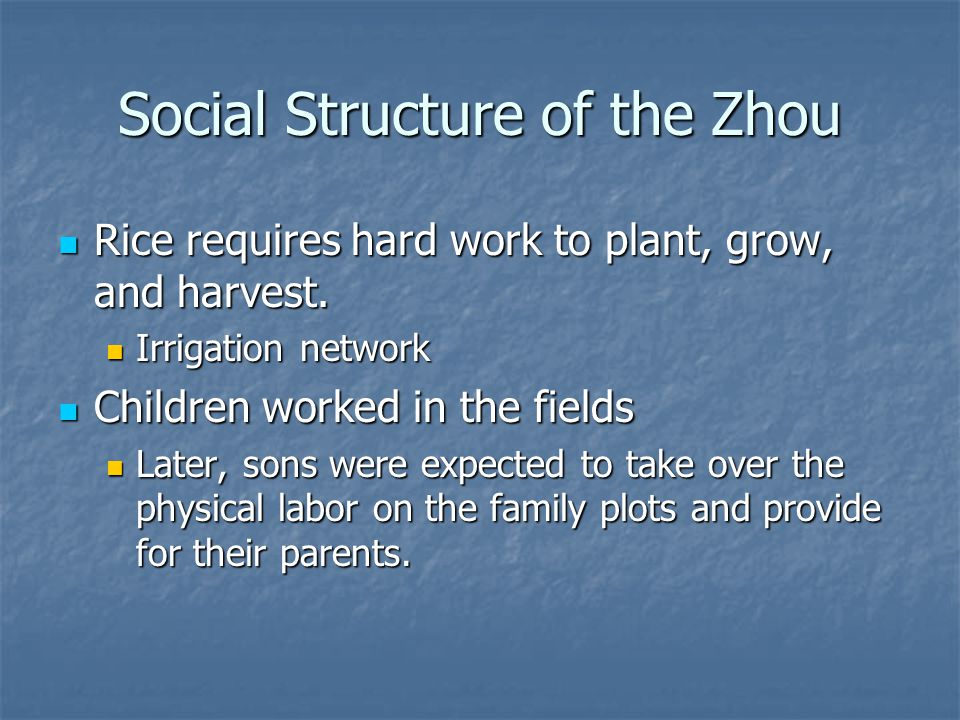 Social Structure of the Zhou