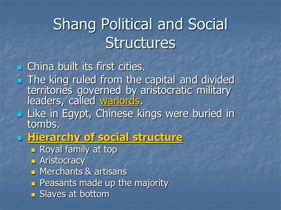 Shang Political and Social Structures