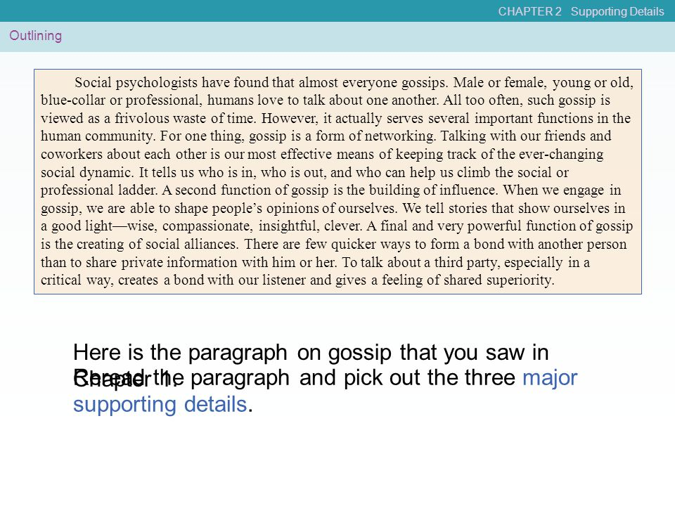 Here is the paragraph on gossip that you saw in Chapter 1.