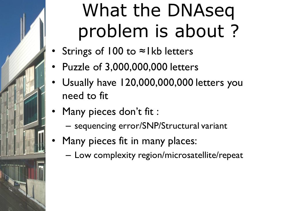 What the DNAseq problem is about