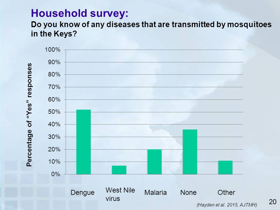 Household survey: Do you know of any diseases that are transmitted by mosquitoes in the Keys