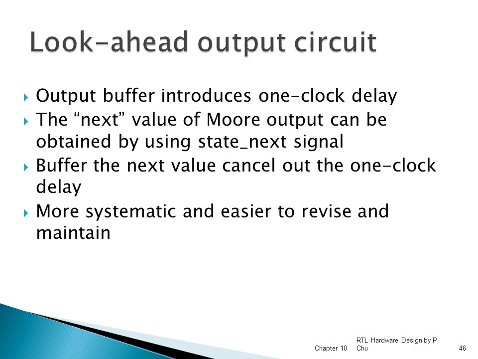 Look-ahead output circuit
