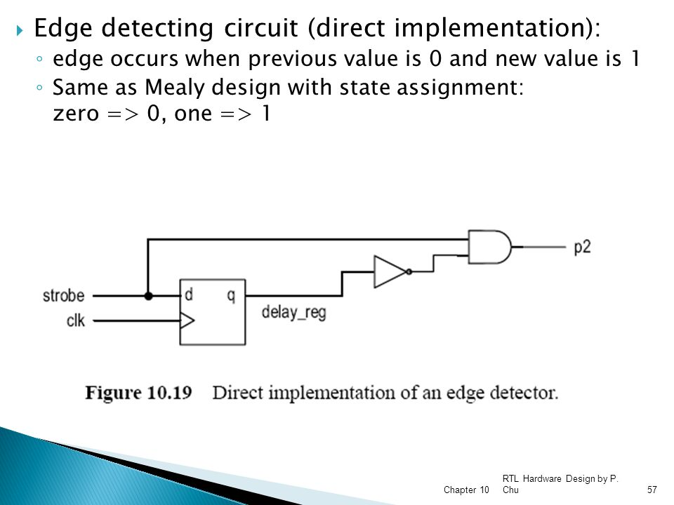 Edge detecting circuit (direct implementation):