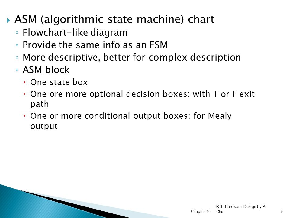 ASM (algorithmic state machine) chart