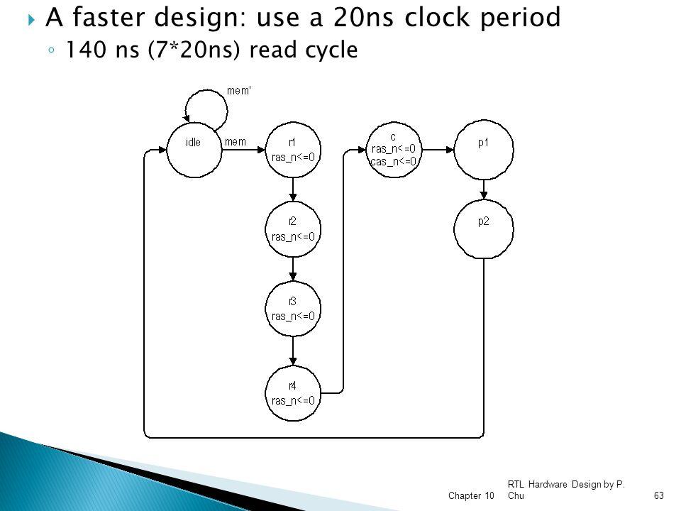 A faster design: use a 20ns clock period