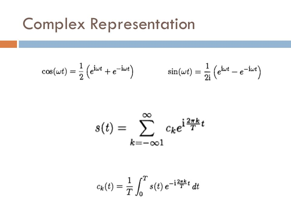 Complex Representation