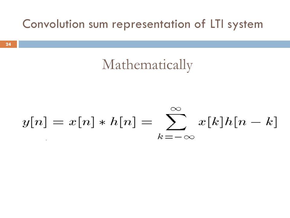 Convolution sum representation of LTI system