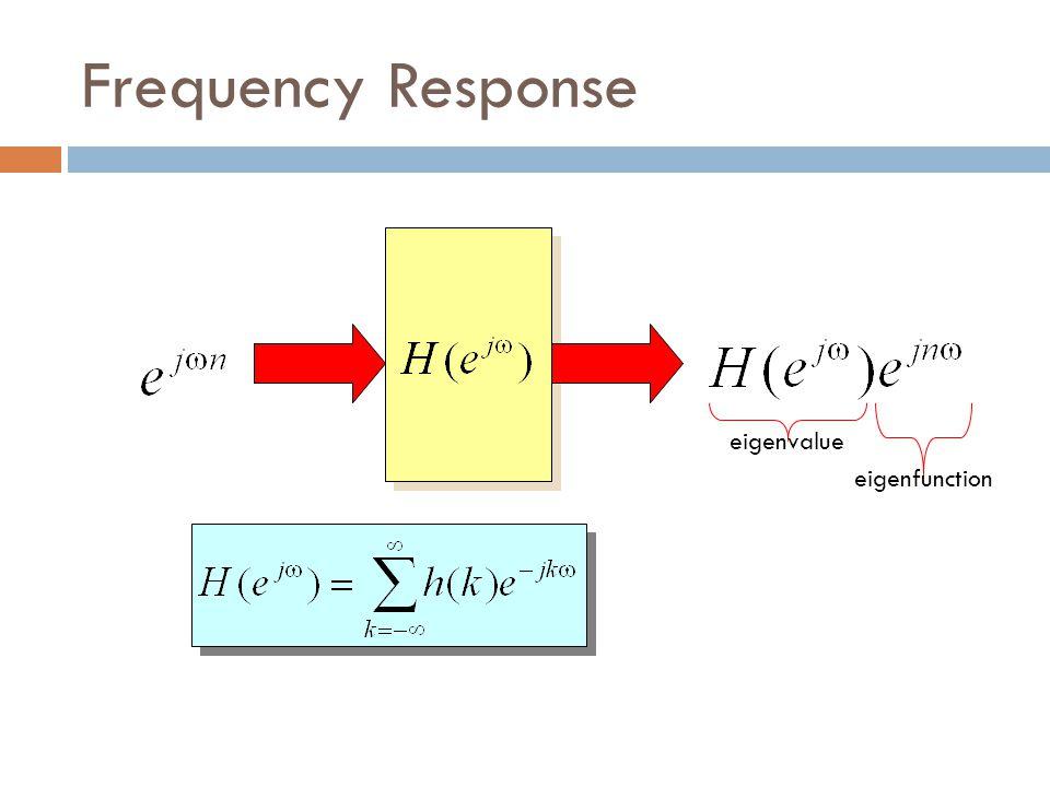 Frequency Response eigenvalue eigenfunction
