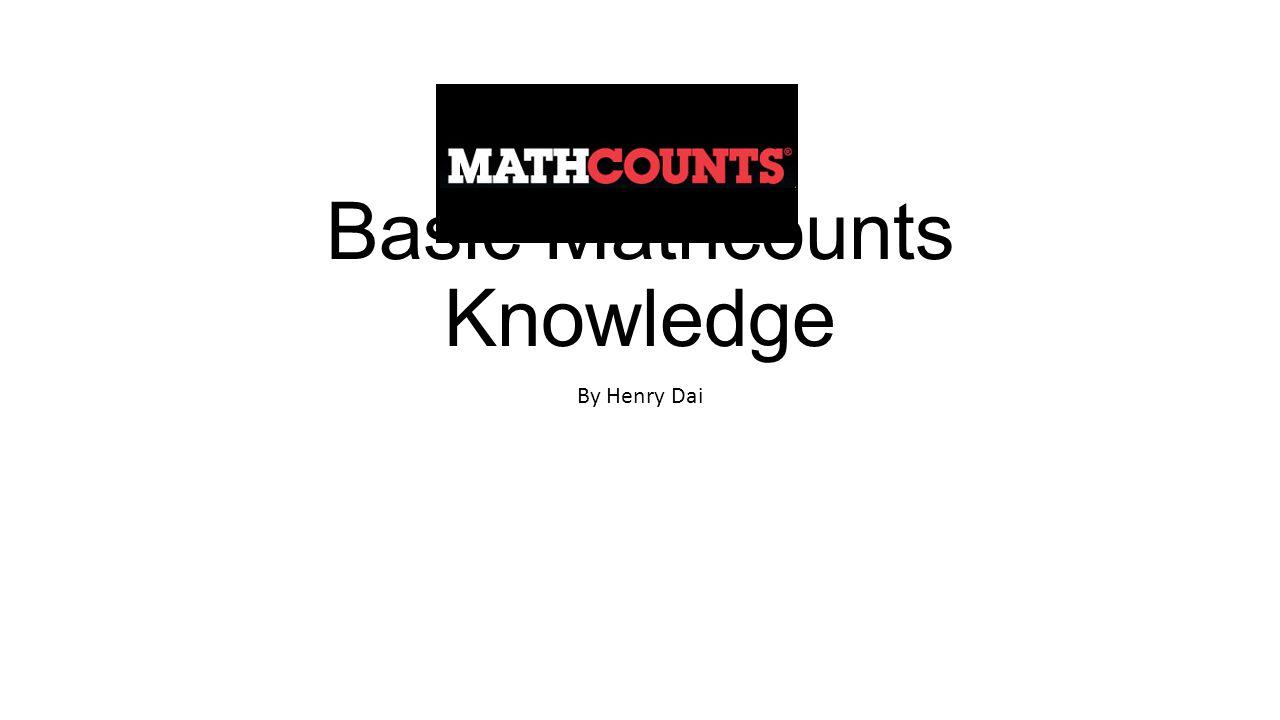 Basic Mathcounts Knowledge