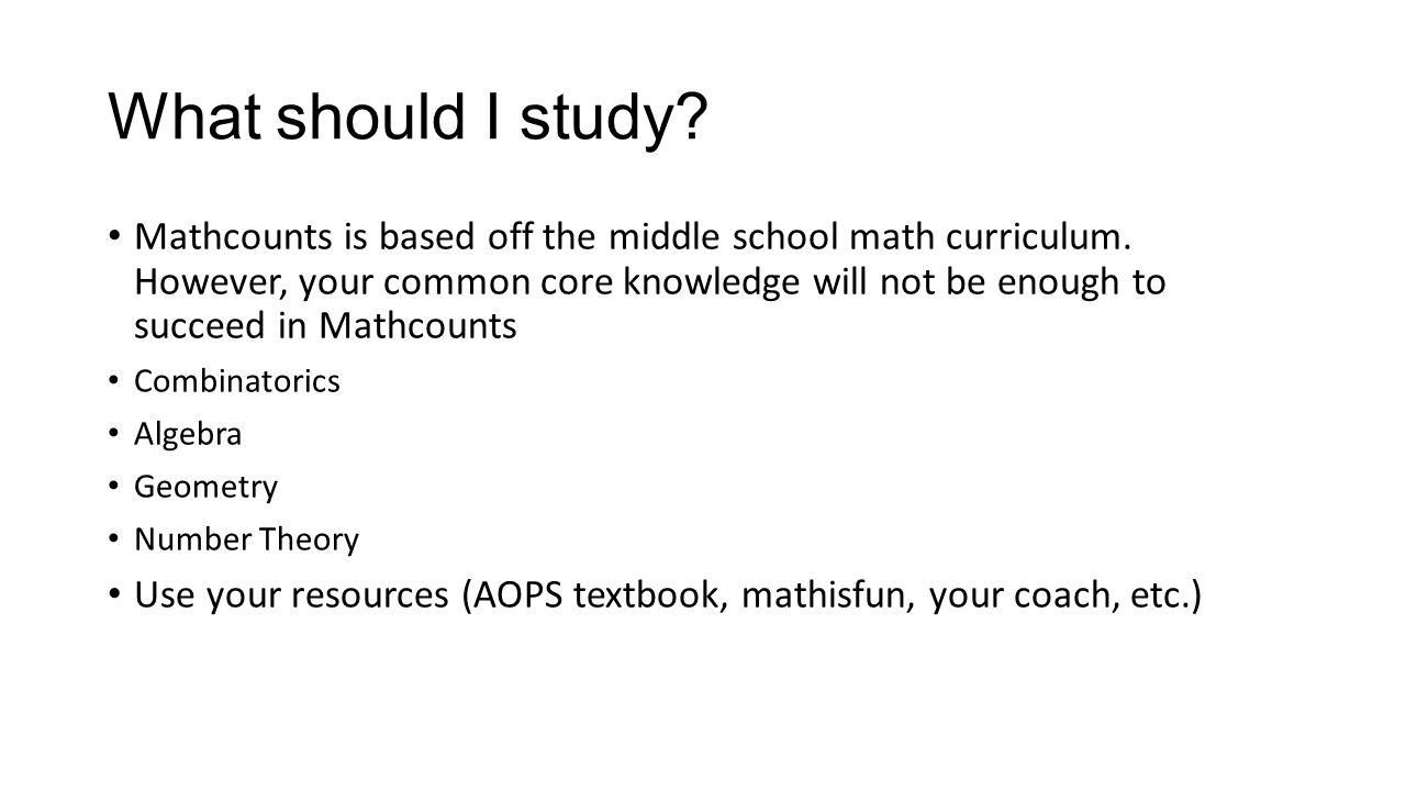 What should I study