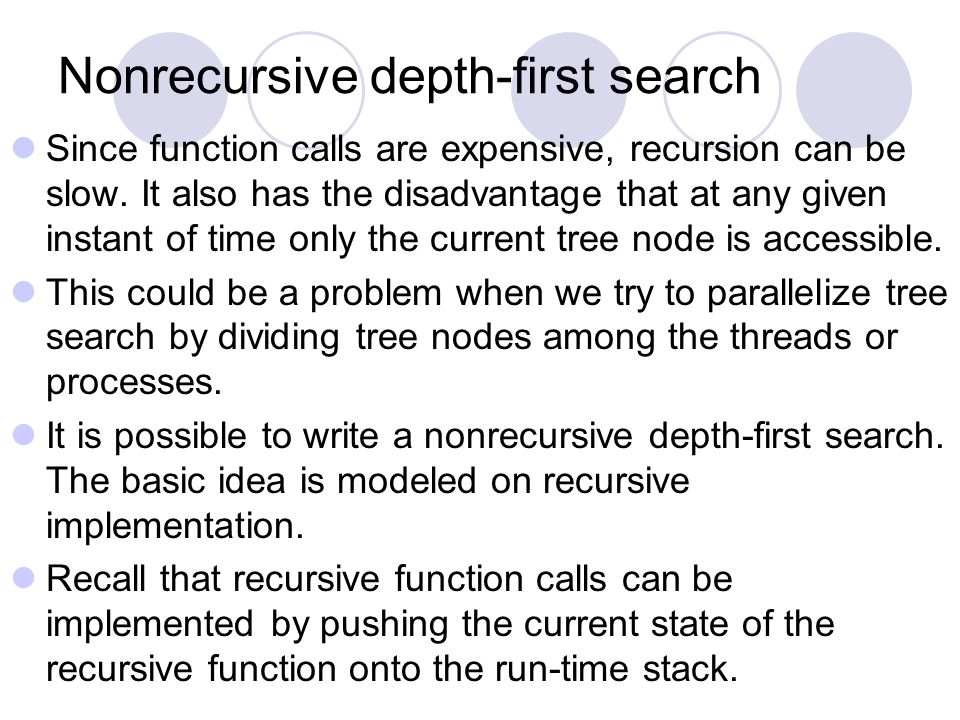 Nonrecursive depth-first search