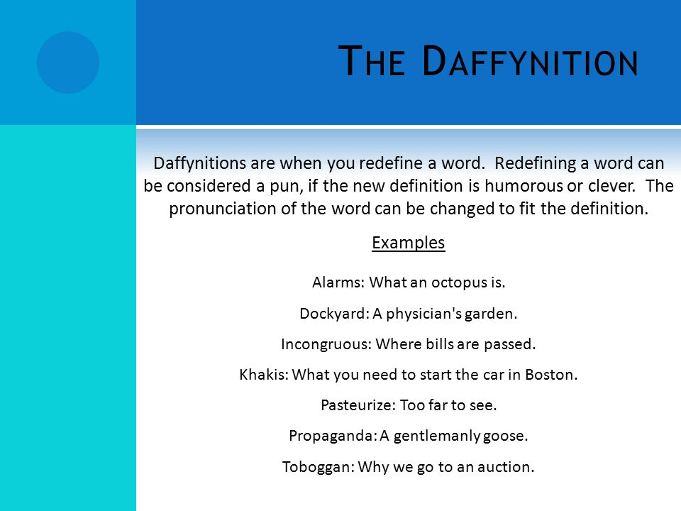 The Daffynition