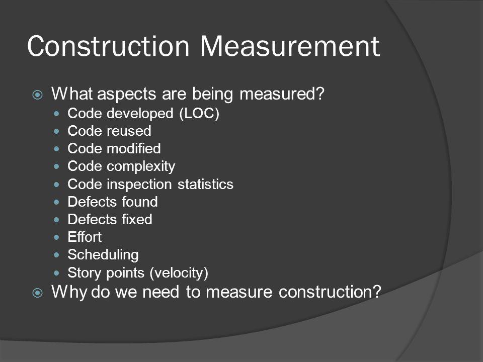 Construction Measurement
