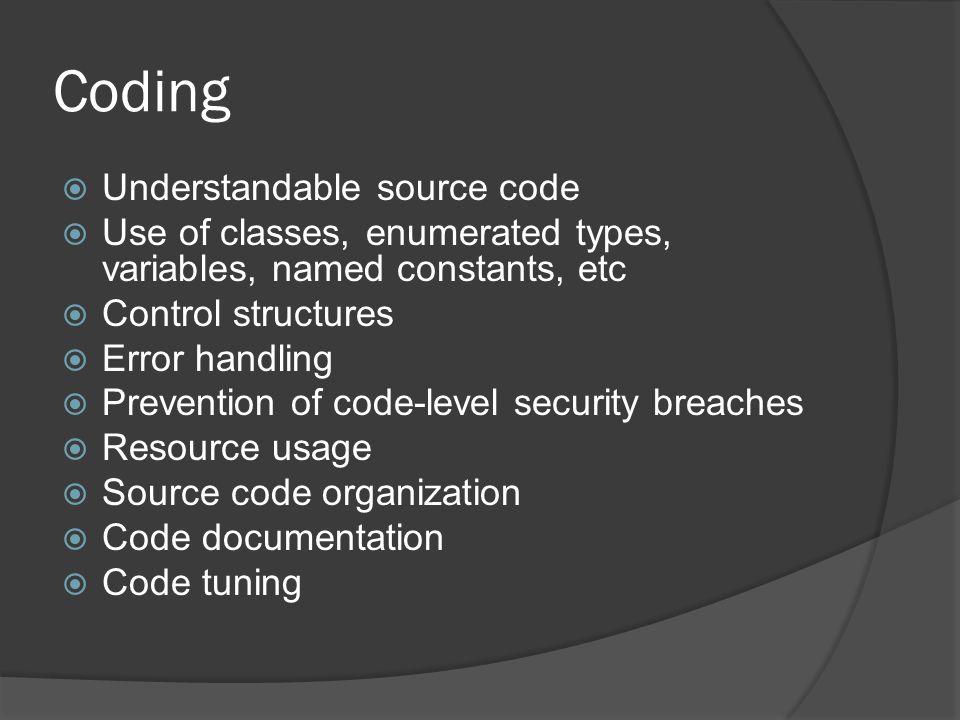 Coding Understandable source code