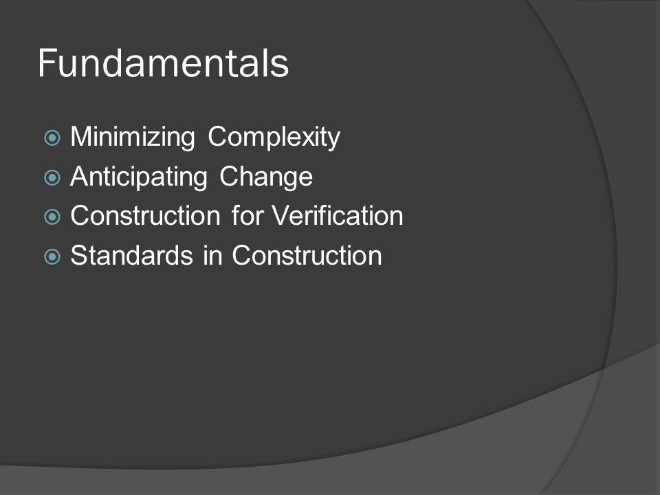 Fundamentals Minimizing Complexity Anticipating Change