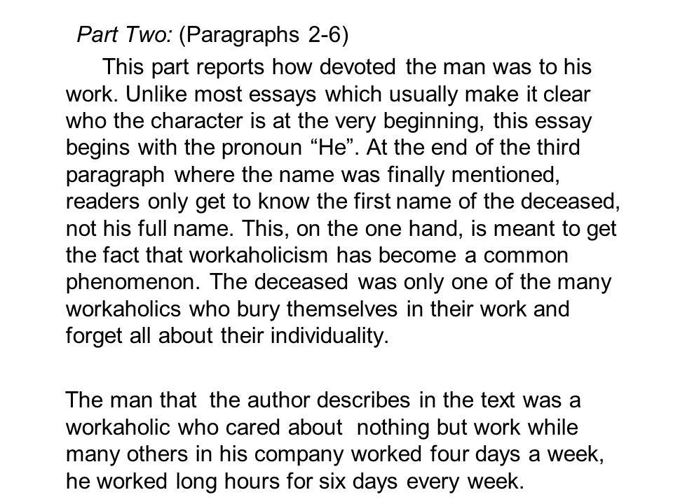 Part Two: (Paragraphs 2-6)