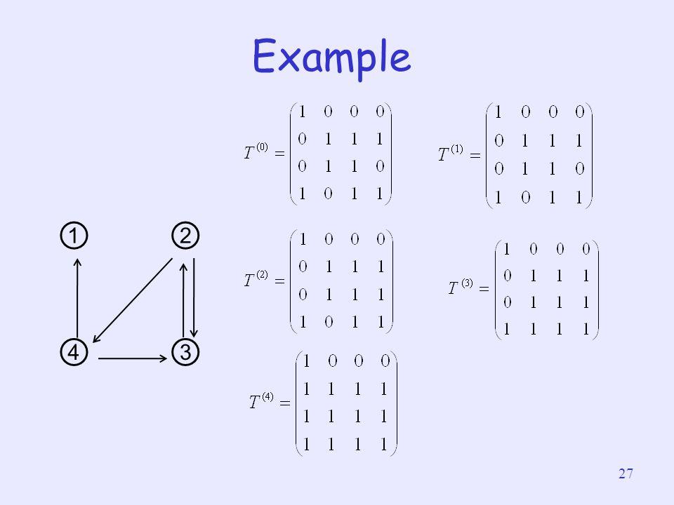 Example ① ② ④ ③